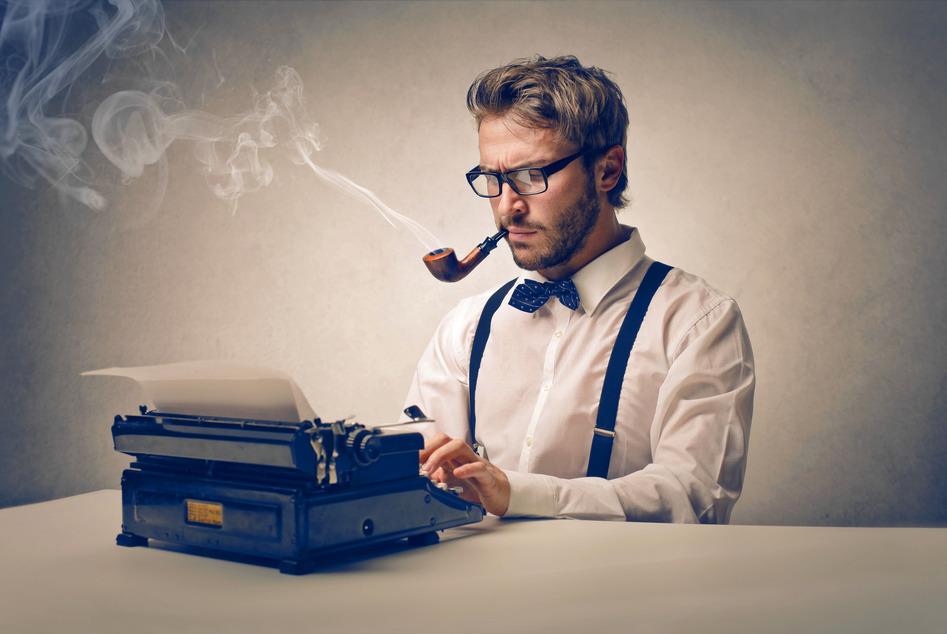 Texter schreibt professionelle Texte