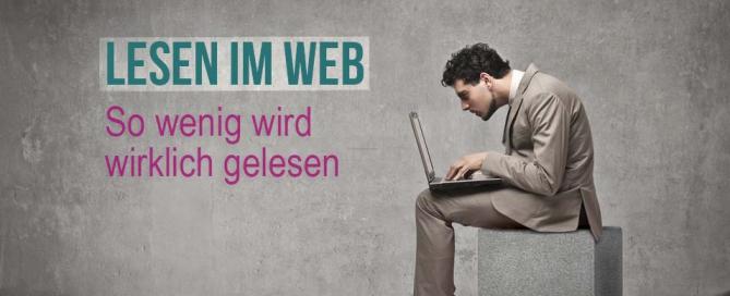 So wenig wird im Web gelesen