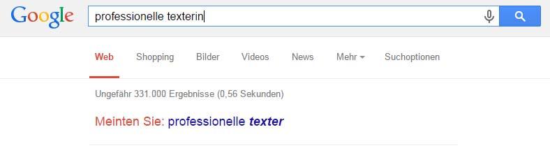 Google erkennt sinnverwandte Wörter.